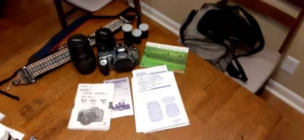 Photo Canon EOS Rebel GII 35mm camera w2 Sigma Lenses - $300 (Nashville)