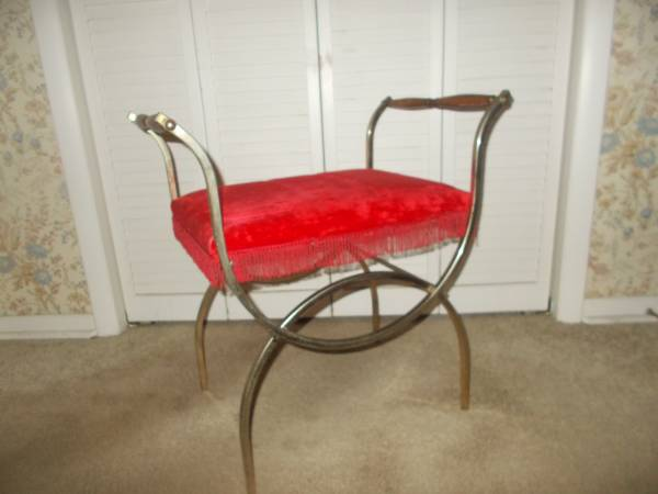 Photo Hollywood Regency Bench - $88 (DELTA METAL INDUSTRIES)