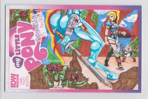 Photo My Little Pony FIM 25 Blank Variant Original Art w COA RB - $20 (La Vergne)