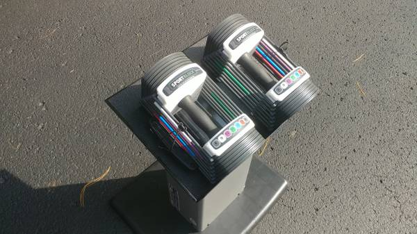 Photo Powerblock Sport 2.4 Modular Adjustable Dumbbells with Stand - $125 (S. Nashville  Brentwood)