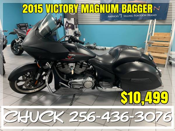 Photo USED 2015 VICTORY MAGNUM BAGGER MOTORCYCLE FINANCING AVAILABLE - $10,499 (TUSCUMBIA)