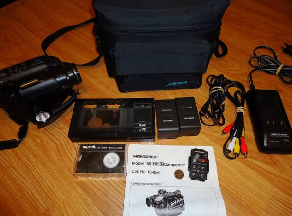 Vintage Memorex Vhs Camcorder Model 155 Adapter Accessories Ch Murfreesboro Cameras For Sale Nashville Tn Shoppok