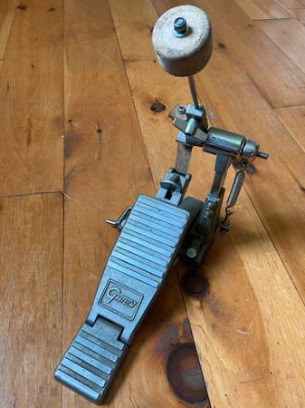 Photo Vintage Gretsch Cam Kick Pedal - Leather Direct Drive Bass Drum Pedal - $65