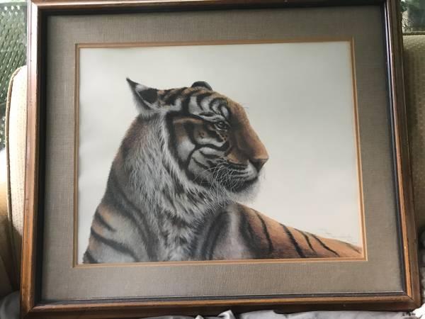 Photo LSU Tiger signed print by J H Farnsworth - $100 (Lakecrest)