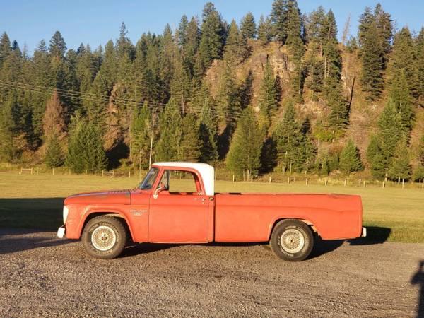 Photo 1967 Dodge D100 - $6,900 (Kalispell MT)