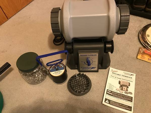 Photo Frankford Rotary Tumbler, SS media, RCBS Media Tumbler - $140 (Fargo)