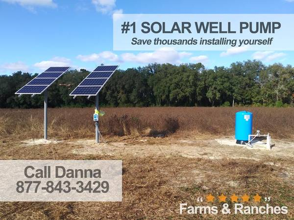 Photo Live the Fantasy with Watering BigFlow 3 diameter Solar well Pump - $1,550 (nd)