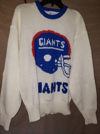 Photo 1980s NY Giants Sweater - $100 (West haven)