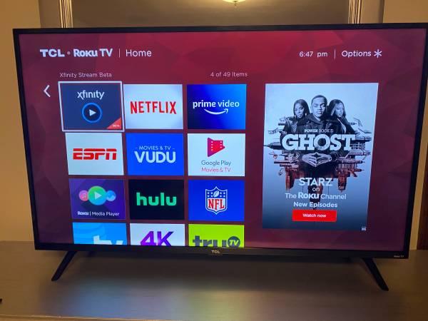 Photo 50 Inch TCL Roku TV with Amazon Firestick - $220 (Waterbury)