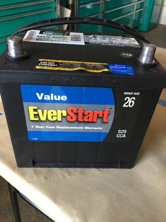 Photo A USED 26 SERIES EVER START BRAND BATTERY FOR SALE - $50 (BRIDGEPORT, CT)