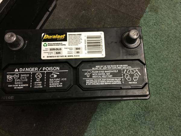 Photo A USED 51R -DLG TOP POST BATTERY FOR SALE - $55 (Bridgeport)