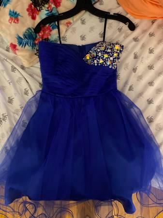 Photo Debs gemmed Navy blue dress - $75 (Waterbury)
