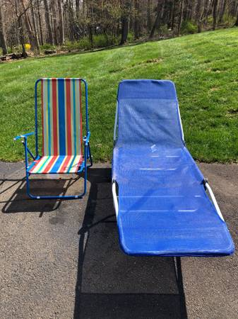Photo Free beach chairs and cing chair (Sandy Hook)