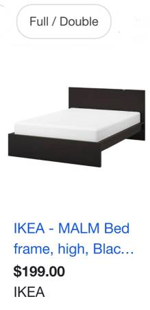 Photo Full size like new IKEA bed frame  Restopedic brand box spring with - $300 (Woodbridge)