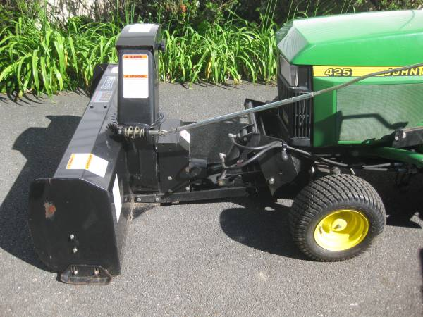 Photo John Deere 425, 445, 455 - Snow Blower and Plow - $1275 (Cos Cob, CT)