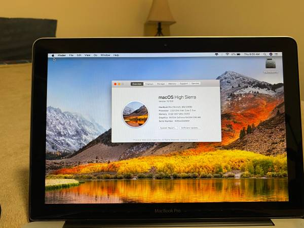 Photo MacBook Pro, Intel Core 2 Duo, 2.53GHz, 500GB SSD, 8GB RAM, 13-inch - $225 (Cheshire)