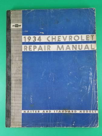 Photo Original 1934 Chevrolet Car Shop Repair Manual Service Book Master  S - $40 (Shelton)