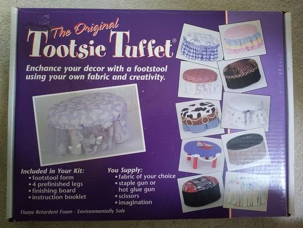 Photo The Original Tootsie Tuffet-Make Your Own Footstool Using Your Fabric - $50 (Shelton)