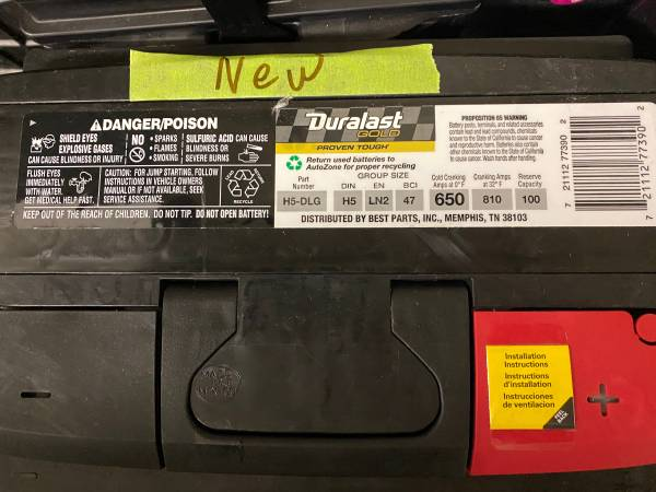 Photo USED AND NEW BATTERY FOR SALE SEE PICTURES - $55 (BRIDGEPORT CT)
