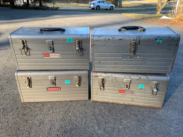 Photo Vintage Sears Craftsman metal tool boxes - $20 (cheshire)