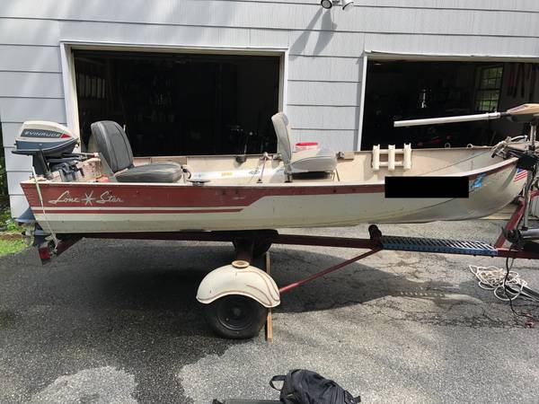 Photo 12ft Jon Boat with Trailer and 6HP Outboard - $1,200 (Morris County)