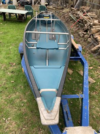 Photo 16 ft. coleman flat back canoe - $550 (Budd Lake)