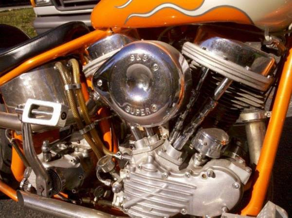 Photo 1950 custom Harley-Davidson panhead - $11,500 (Rockaway)