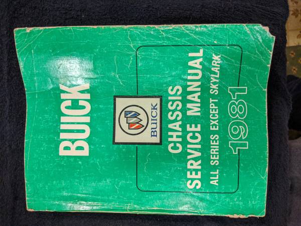 Photo 1981 Buick Chassis and Body Service Manuals - $25 (Haledon, NJ)