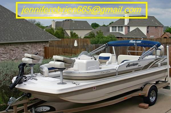 Photo -2003 Hurricane Deck Boat 198R with Trailer- - $1,402 (Westwood)