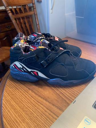 Photo 2003 Nike Air Jordan 8 VIII Retro Playoff Low Black Red Bred 306157 06 - $350 (NORTH BERGEN)