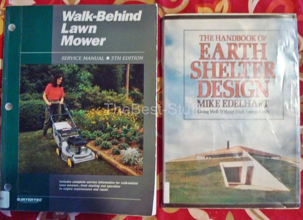Photo 2 Books 1 Walk-Behind Lawn Mower Serv. Manual 5th 1 Earth Shelter - $12 (Randolph, NJ)