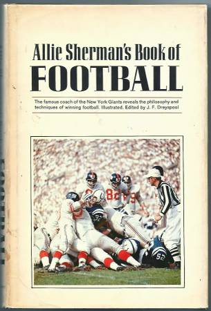 Photo Allie Sherman - NY Giants Head Coach (Signed Book 1st Edition) - $10 (Long Valley)