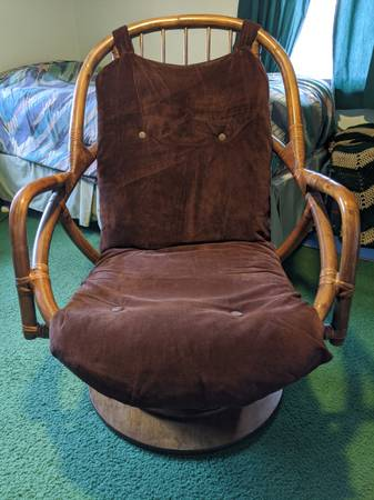 Photo BAMBOO CHAIR - ANTIQUE VINTAGE - $600 (Tenafly)
