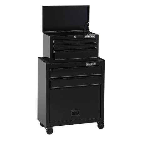 Photo Craftsman 5-Drawer Standard-Duty Tool Chest  Cabinet - Black - $180 (north bergen)