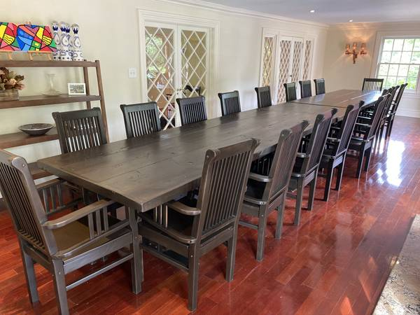 Photo Custom Made Tables and 24 Captain Chairs from Tribeca Restaurant - $10,000 (Short Hills)