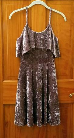 Photo Design Lab Lord  Taylor Purple Crushed Velvet Mini Dress Sz Medium - $22 (Whippany, NJ)