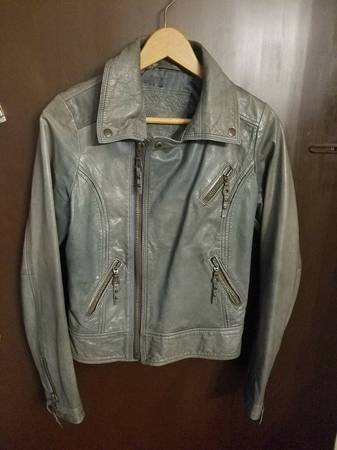 Photo For Joseph Olive Green Motorcycle Biker Jacket Size XS - $54 (Little Ferry)