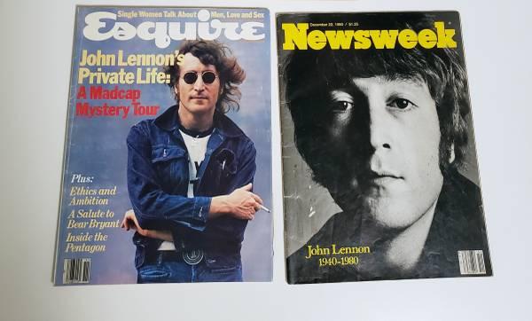 Photo John Lennon magazines (1 pair) - $10 (Jersey City)