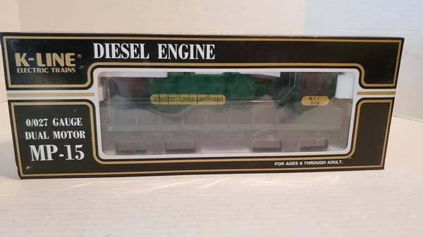Photo K-Lline Diesel Train Engine 0027 Gauge Dual Motor MP-15 Kennecott Cop - $100 (Rockaway)