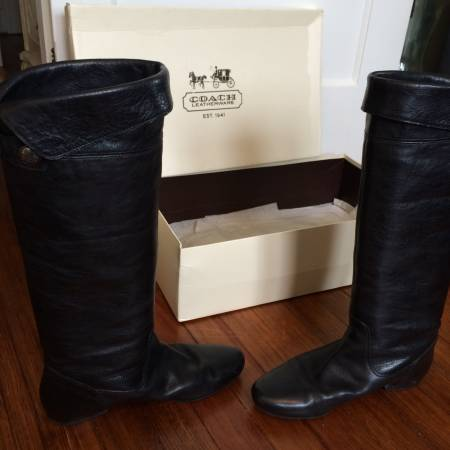 Photo Ladies Coach leather boots - $90 (Kinnelon, NJ)