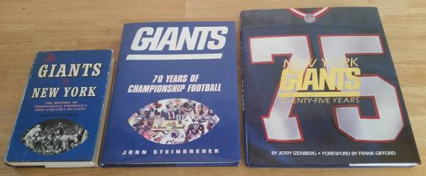 Photo NY Giants - Football Related Books (Lot of 3) - $15 (Long Valley)