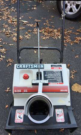 Photo Sears Craftsman Snow Blower Thrower 20quot 3HP Handy-Person Special - $55 (Paramus, NJ Area Northern, NJ)