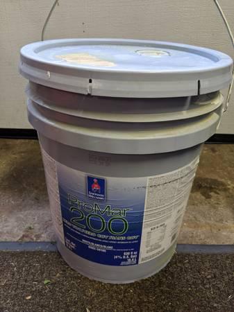 Photo Sherwin Williams ProMar 200 Paint 5 Gallon Bucket - $50 (Clifton NJ)