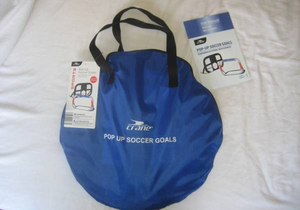 Photo Soccer Goals, Pop-Up New with tags Never Usedzippered carrying case - $10 (Hasbrouck Heights, NJ)