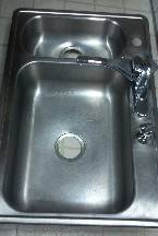 Photo Stainless steel sink with Moen faucet and instant hot water dispenser - $240 (Lake Hopatcong)