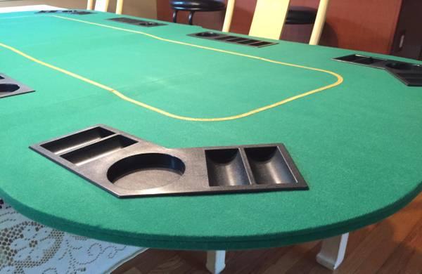 Photo Texas Holdem Folding Poker Table Top - $39 (Norwood)