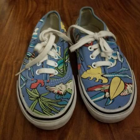 Photo Vans Van Doren Blue Parrot Sneakers Tropical Bird Skate Womens 7 - $40 (Little Ferry)