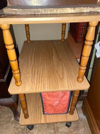Photo Vintage Kitchen Storage 3 Tier Shelf Rolling Cart Cabinet Stand - $50 (Fairview)