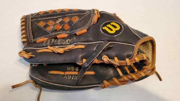 Photo WILSON A9736 - WS8 12quot US POWER SNAP Baseball Glove Black American Co - $35 (Rockaway)