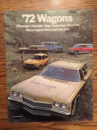 Photo 1971  72 Chevy station-wagon owners manual, sales brochure, invoice - $25 (Totowa)